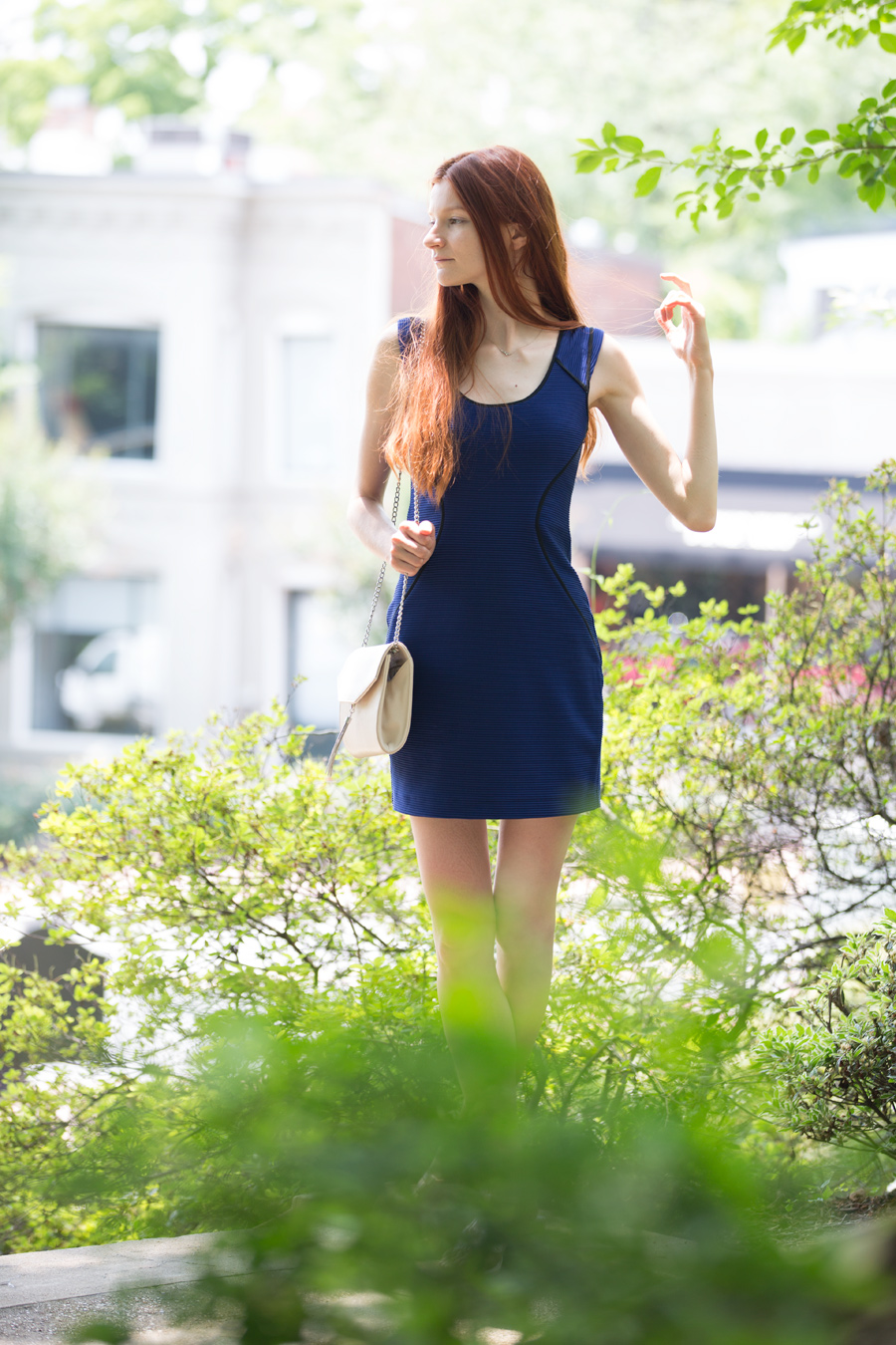 Natalie Soul Life Style Blog. Little Blue Express Dress Outfit